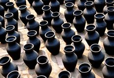 Black Pottery Royalty Free Stock Photos