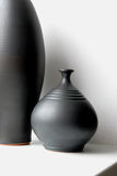 Black pottery vases Royalty Free Stock Photo