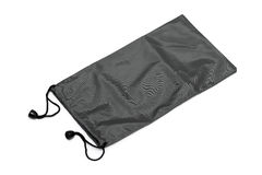 Black pouch isolated Stock Photos