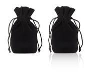 Black pouch on a white Stock Photos