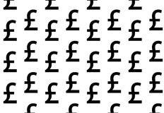 Black pound on white background Royalty Free Stock Images