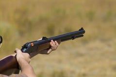 Black powder. Rifle showing loaded igniter cap Royalty Free Stock Photo