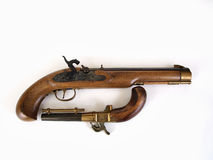 Black Powder Pistol Pair Stock Image