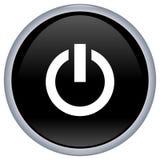 Black power aqua button Royalty Free Stock Photography