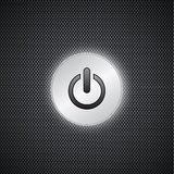 Black power button Stock Images