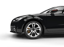 Black Powerful Car On White Background Royalty Free Stock Images