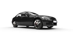 Black Powerful Car Royalty Free Stock Photography