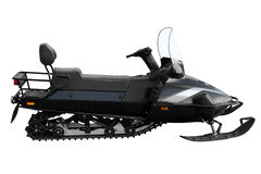 Black powerful snowmobile Royalty Free Stock Photography