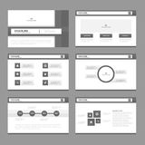 Black presentation templates Infographic elements flat design set for brochure flyer leaflet marketing Royalty Free Stock Images