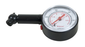 Black Pressure Gauge. To measure the pressure of a pressurized object - path included Stock Images