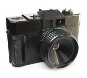 Black primitive plastic camera Royalty Free Stock Image