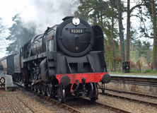 92203 Black Prince at Holt station on the North Norfolk Railway royalty free stock images
