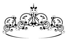 Free Black Princess Diadem On A Wight Background. The Crown. Vector Illustration. Stock Image - 144977661