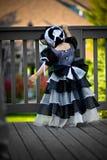 Black Princess Dress And Bonnet Stock Photos