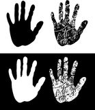 Black print of a hand Stock Images