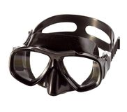Black professional diving mask Stock Photos