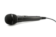 Black professional microphone isolated Royalty Free Stock Image