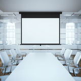Black projector screen. 3d rendering Royalty Free Stock Images
