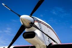 Black Propeller Against a Blue Sky Royalty Free Stock Photos