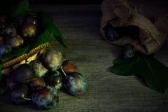Black prunes. A view of black prunes royalty free stock image