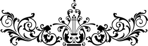 black prydnaden royaltyfri illustrationer