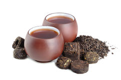 Black pu-erh tea Royalty Free Stock Photos