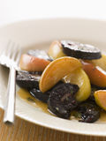 Black Pudding Apples and Cider Stock Photo