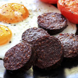 Black Pudding Breakfast Stock Photo