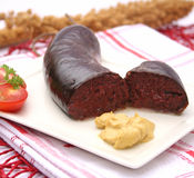 Black pudding Royalty Free Stock Photography