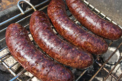 Black pudding during the preparation Royalty Free Stock Photography