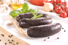 Black pudding Stock Image