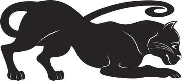 Black puma royalty free illustration