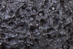 Black pumice surface close up Royalty Free Stock Photography