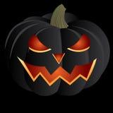 Black pumpkin. One black pumpkin for halloween Stock Photos