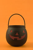 Black pumpkin lantern Royalty Free Stock Photo