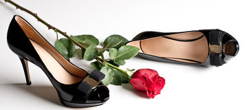 Black Pumps royalty free stock photography