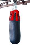 Black Punching bag for boxing or kick boxing sport,   Royalty Free Stock Photography