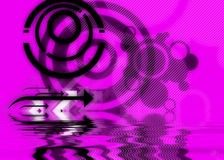 Black Purple Abstract Design Royalty Free Stock Photo
