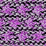 Black and purple abstract zigzag continuous pattern royalty free stock images