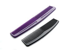 Black and purple comb. On white background Royalty Free Stock Image