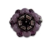 Black and purple crystal cluster ring Royalty Free Stock Photos