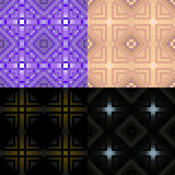 Black and purple geometric monochrome seamless pattern. vector i Stock Image