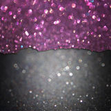 Black and purple glitter lights. abstract bokeh lights Royalty Free Stock Photography