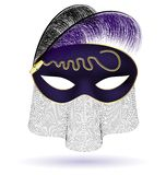 black-purple half-mask Stock Photo