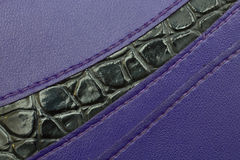 Black and purple leather Texture backgrounds. Closeup royalty free stock photo