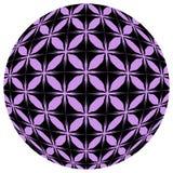 Black and purple mosaic ball Royalty Free Stock Image