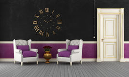 Black and purple vintage room Royalty Free Stock Photography