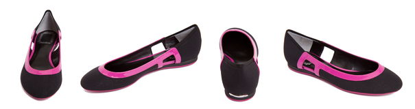 Black - purple women shoe Stock Images