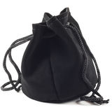 Black purse. On a white background Royalty Free Stock Images