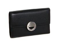 Black purse. Isolated photography of black purse Stock Photos